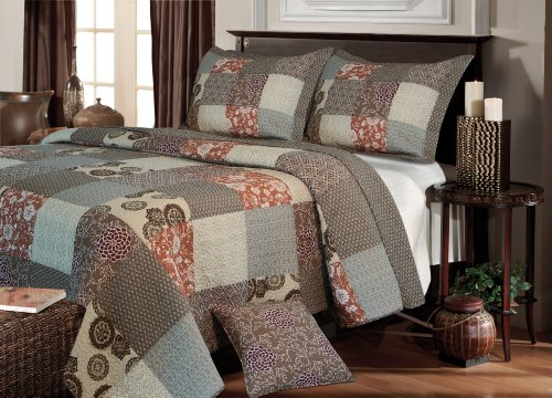 Greenland Home Fashions Stella Quilt Set, King front-1018717