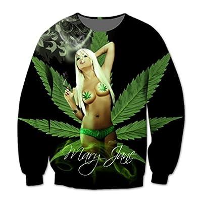 Mary Jane, cannabis - 2016 New fashion 3d sweatshirts