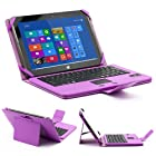 SUPERNIGHT Removable Detachable Wireless Bluetooth 3.0 Keyboard PU Leather Stand Case Cover w/Touchpad Auto-Sleep/Week For Microsoft Surface RT/Pro/ Surface 2 / Surface Pro 2 Windows 8 Win8 Tablet - Purple
