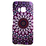 HTC One M9 Case, Sophia Shop Premium Slim Fit Flexible TPU Case for HTC One M9, Ultra Slim TPU Soft Rubber Cover Case, Scratchproof, Shock Absorbent, Shatterproof, Anti-slip [Portrait Style] [Tribal Pattern] [Flower Pattern] [Fashion Pattern] [Text Pattern] [Totem Pattern] Protective Skin Case Fashion Style Colorful Painted TPU Case Soft Rubber Back Cover Protector Skin (Colorful Flower)