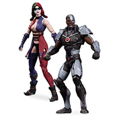 Dc Collectibles Injustice Cyborg Vs Harley Quinn Action Figure 2-pack from DC Collectibles