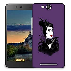 Snoogg Black Lady Designer Protective Back Case Cover For MICROMAX CANVAS JUICE 3 Q392