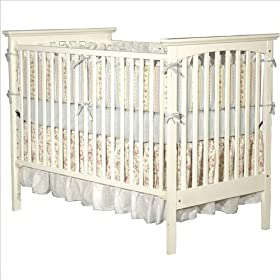 Child Craft Falls Village Transitional Stationary Convertible Crib, Matte White: Baby