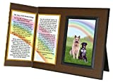 Pet Lover Remembrance Gift, Rainbow Bridge Poem, Memorial Pet Loss Picture Frame Keepsake and Sympathy Gift Package, with optional custom photo editing
