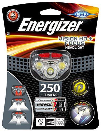 Energizer Vision HD + messa a fuoco fari con 3x Batterie AAA Incluse