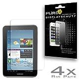 Pure² 4x Displayschutzfolie für Samsung P3110 Galaxy Tab 2 7.0 kratzfestes, klar und unsichtbar im Blister. CrystalClear. 4x Schutzfolie im BIG PACK