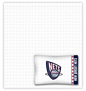 New Jersey Nets Sheet Set - Queen by Sports Coverage