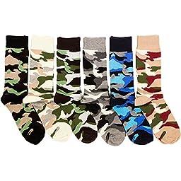 Freedom Men\'s 6 Pack of Colorful Fashion Dress Socks-Camo, 09 - 11