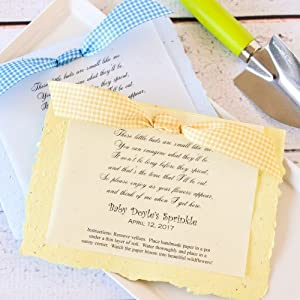 Amazon.com: Personalized Baby Shower Plantable Seed Poem ...