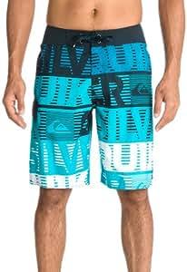 Quiksilver Uea21 Comp Word Stripe Short de bain pour homme Bleu cyan 29