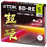 TDK Blu-Ray BD-RE Rewritable Ver. 2.1 25GB 2x Speed - 5 Pack Slim Case - EXTRA HARD COATING