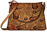 Snoogg Cream Feather Designer Womens Carry Around Sling Bags