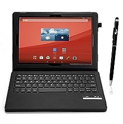 VSTN ® Sony Xperia Z4 Tablet Bluetooth Keyboard case - High quality Ultra-thin Portfolio Case - Detachable Bluetooth Keyboard Stand Case / Cover for Sony Xperia Z4 Tablet tablet. (Black)