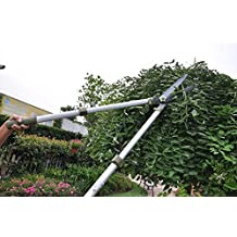 Worth Garden Telescopic Hedge Shear, Extendable Long Reach Clipper, Long Arm Pruning Shears W/ Antirust Teflon...