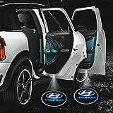 2 X 5th Gen car door Shadow laser projector logo LED light for hyundai All Series Coupe Tucson Accent Elantra Terracan Veracruz Sonata Santa fe I10 I20 I30 I30CW I40 I800 IX35 getz