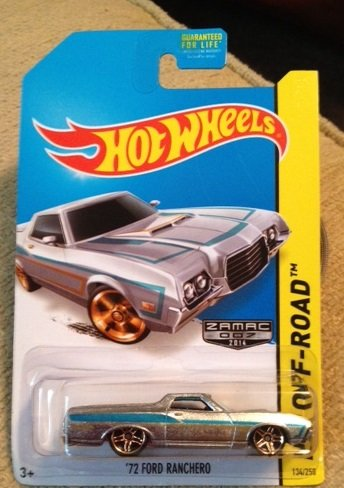 Hot Wheels ZAMAC 2014 hw off road '72 FORD RANCHERO Rare new in package 134/250 - 1