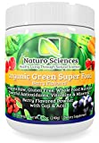 Organic Greens Super Food By Naturo Sciences - Complete Raw Whole Foods Nutrition - Powerful Antioxidants - Vitamins & Minerals with Goji and Acai - Best Tasting Formula - Amazing Berry Flavor 8.5oz (240g) 30 Servings