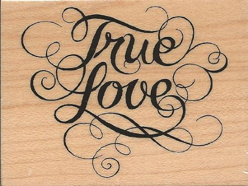 True Love Wood Mounted Rubber Stamp