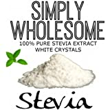 100% Pure Stevia Extract White Crystals Simply Wholesome 100g