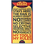 Garage Rules Plaque