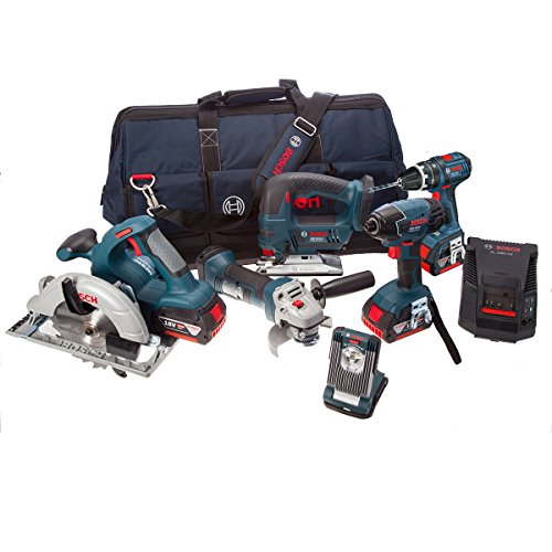 Bosch BAG+ 18 V Professional 6 Piece Kit (includes 3 x 4.0 Ah Lithium Ion CoolPack Batteries)