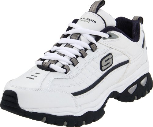 Skechers Men's Energy Afterburn Running Shoe,White/Navy,11 M