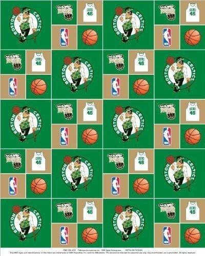 Boston Celtics Nba Basketball Pro Sports Team Cotton Fabric Print By The Yard Scel020s Edward A Jacksonet