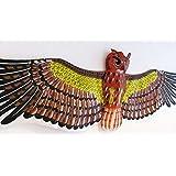 3D Japanese Owl Kite Flying Toy & Hobby Outdoor Park Beach Fun Garden Farm Defense Bird Scaring Trad