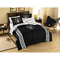 Oakland Raiders 3 Pc TWIN FULL Embroidered Comforter Set - Entire Set Includes: (1... by Northwest