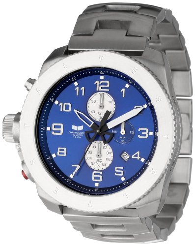 Vestal Men's RES010 Restrictor Silver Navy Watch