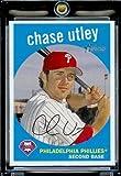 2008 Topps Heritage # 300 Chase Utley - Philadelphia Phillies - MLB Baseball Trading Card