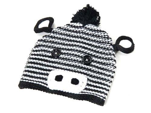 (マッドパイ) Mud Pie ベビー ハット/帽子/ニット帽 173073 Hat Zebra [並行輸入品]
