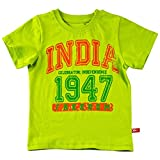 Oye Boys Tee with Independence Day Theme - Lime Punch (4-5Y)