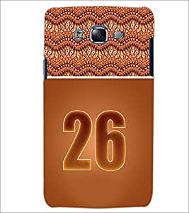 PrintDhaba Numerology Number 26 D-3661 Back Case Cover for SAMSUNG GALAXY J7 (Multi-Coloured)