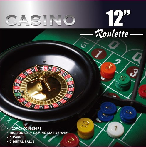 Great Deal! Casino 12 Roulette Wheel Game Set w/120 Chips, Felt Layout, & Rake