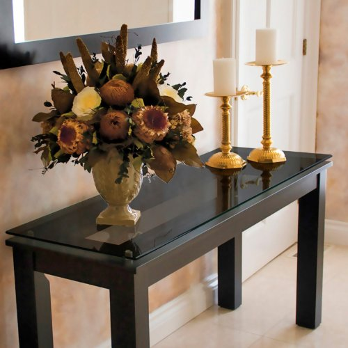 Plateau THS Contemporary Console Table in Black on Black (SL-THS (54 X 16) (B)-BG)