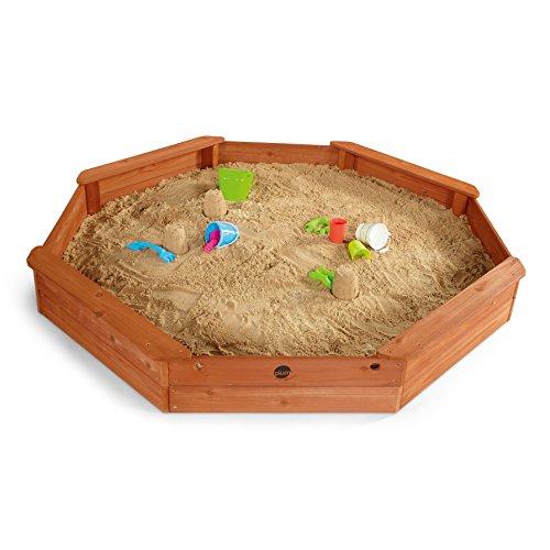 Plum 25058 - Piscina de arena octogonal (madera, 1,77 x 1,77 x 0,23 m)