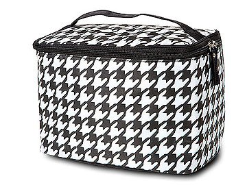 Houndstooth Train Case