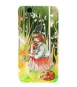 EPICCASE Nature's girl Mobile Back Case Cover For Huawei Nexus 6P (Designer Case)