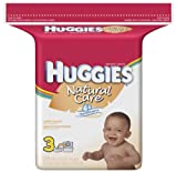 Huggies Natural Care Baby Wipes, Scented, Refill, 216-Count Pack (Pack of 3)