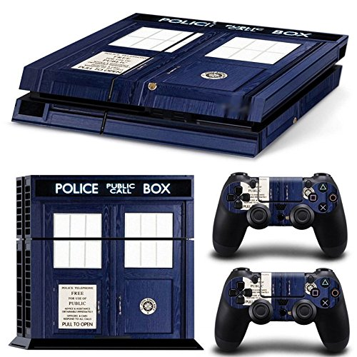 GoldenDeal PS4 Console and DualShock 4 Controller Skin Set - Dr Police Box Ttime Travel - PlayStation 4 Vinyl (Ps4 Merchandise compare prices)