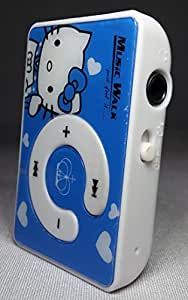 KITTY DESIGN MP3 PLAYER WITH HANDFREE+CHARGING CABLE WITH LATEST DESIGN MP3 PLAYER WITH FREE OTG CABLE +HANDFREE INSIDE... (BLUE)