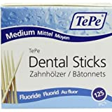 Tepe Dental Sticks - Medium with Flouride (125 Pieces/Packet)