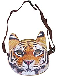 NPRC Tiger Animal Shape Lovely Hand/Sling Bag For Kids Coin Purse