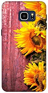 The Racoon Grip Fresh Sunflowers hard plastic printed back case / cover for Samsung Galaxy S6 Edge+