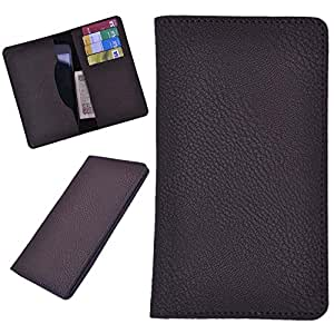 DCR Pu Leather case cover for Lava 405+ (brown)
