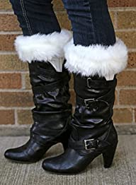 Funky Junque's Fur Trim Boot Cuff