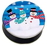 Scotts Cakes Empty in a Large Whimsical Snowmen Tin