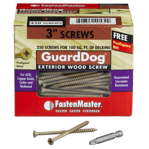 fastenmaster fmgd003 350 guarddog exterior wood screw tan 3 inch
