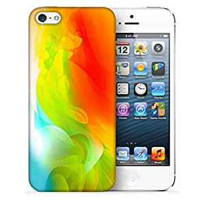 Snoogg Abstractr Multicolor Pattern Designer Protective Back Case Cover For IPHONE 5